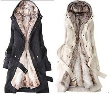 HOT Lady Women Thicken Warm Winter Coat Hood Parka Overcoat Long Jacket Outwear