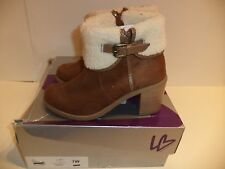 Lane Bryant Tannin Faux Suede Shearling Boots