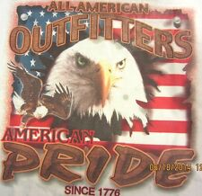 NEW! Adult AMERICAN PRIDE Patriotic USA Flag Eagle T-Shirt Unisex SIZE M - 2X