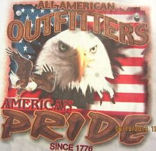 NEW! Adult AMERICAN PRIDE Patriotic USA Flag Eagle T-Shirt Unisex SIZE M - XL