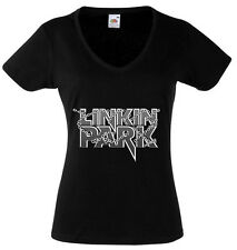 LINKIN PARK 1 T-SHIRT WOMENS BLACK FRUIT OF THE LOOM HIGH QUALITY DTG