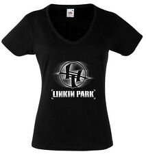 LINKIN PARK 2 T-SHIRT WOMENS BLACK FRUIT OF THE LOOM HIGH QUALITY DTG