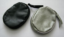 Brand new zipped purse in leather effect - Black or Silver