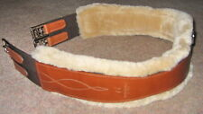FRANK BAINES WALSALL English Leather SHEEPSKIN Atherstone Long Elastic Girth NEW