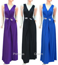 Purple Black Blue Formal Evening Bridesmaid Dress Plus Size 22 20 18 16 14 12 10