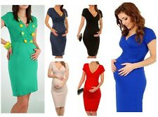 Maternity Evening dress,pregnant pregnancy Party office maternity dress 8-20