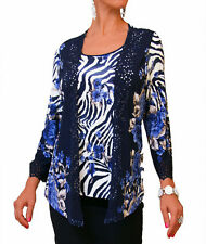 LADIES FLORAL LACE ANIMAL BLOUSE CARDIGAN TOP PLUS SIZE MATERNITY 12 14 16 18 20