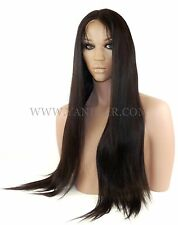 Premium Indian Remy Human Hair Silk Top Full Lace Wig Straight #1 / #1B / #2 /#4