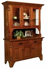 Amish Dining Room Hutch Country Cottage China Cabinet Solid Wood Furniture
