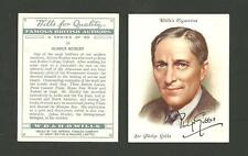 Type Cards: Wills FAMOUS BRITISH AUTHORS large cards EX cond.
