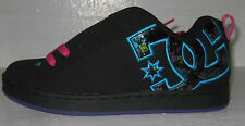 DC court graffik se woman's skate shoes black/graffiti print szs 5,6,7& 8.5
