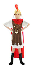 BOYS ROMAN GENERAL SOLDIER GLADIATOR FANCY DRESS COSTUME
