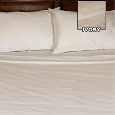 [ WHOLESALE PRICES ] 800TC 100% EGYPTIAN COTTON 1PC FLAT SHEET [ SOLID IVORY ]