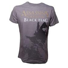 Assassins Creed 4 - Grey - Kenway Stencil - NEW T Shirt - OFFICIAL FREE REC DEL