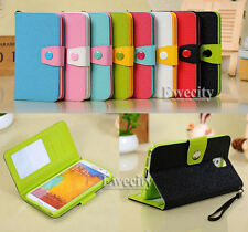 Flip Wallet Bicolor Leather Stand Case Cover For Samsung Galaxy Note III 3 N9000