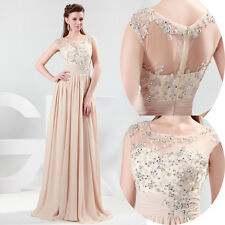 Sexy Back Formal Bridemaids Wedding Ball Gown Evening Party Cocktail Long Dress