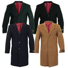 new mens cashmere outerwear trench wool lined coat warm winter jacket overcoat