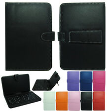 """Leather Case Universal USB Keyboard  for 10"""" 9.7"""" 9"""" 8"""" 7"""" Android Tablet +OTG"""