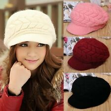 Sweet Knitting Womens Beanies Hat Peaked Cap Crochet Winter Warm Accessory 2sO