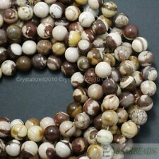 Natural Brown Zebra Jasper Gemstone Round Beads 4mm 6mm 8mm 10mm 12mm 14mm 16''