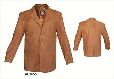 Allstate Leather 3 Button Brown Buffalo Leather Blazer Motorcycle Jacket AL2655