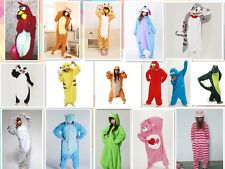 New Unisex Animal Romper Men Ladies Fleece Suit Onsie Fancy Dress Costume Pajama