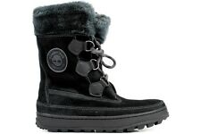 Timberland Mukluk Lace Up 26612 New Womens Black Winter Suede Fur Boots Shoes