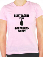 ESTATE AGENT BY DAY SUPERHERO - Houses / Property / Sell Themed Women's T-Shirt