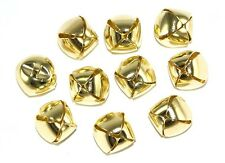 Gold Coloured Metal Christmas Jingle Bells - For Decoration and Charms
