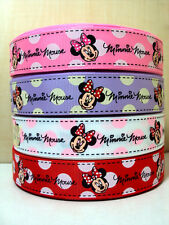 """Minnie Red Lilac White Pink Spot 1"""" 1 Inch 25mm Grosgrain Ribbon"""