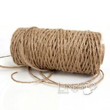 Natural Jute Twine Burlap String 3 Ply Rope Wedding Wrapping Cord Thread Crafts