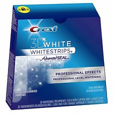 CREST 3D PROFESSIONAL EFFECTS TEETH WHITENING WHITE STRIPS - Free Delivery!