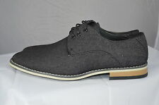nen mens casual  Shoes Lace Up Black Jeans  italian style new in box UK 6-11