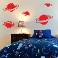 PLANET wall art sticker space rokcet stickers planets earth art vinyl decal