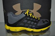 Under Armour Micro G Connect 1232270 045 Mens Running Shoes Black/Gray/Yellow