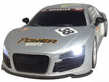 1/16 Radio Remote Control Car AUDI R8 LED LIGHTS RECHARGEABLE FAST 20 KPH