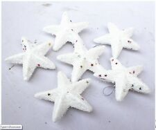 Lot of 6 White Sharps Christmas Trees Polyfoam Decoration Stars Drops 6cm Qty 6