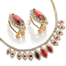 Janeo Necklace Earring Set Swarovski Crystal Elements Christmas Gift On Sale Her