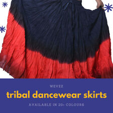 12 yard tribal cotton skirt with variation - indiantrend