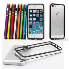 Color Frame Hard Rubber Bumper Case For Apple iPhone 5 5G 5S Screen Protector