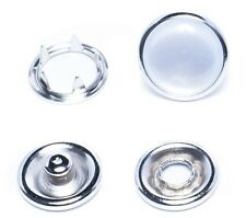PEARL PRONG SNAP BUTTON AND RING  9.5 mm  OR 11 mm  pack of 12, 100 OR 1000 USA