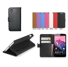 Leather Case Cover Pouch + LCD FIilm For LG Google Nexus 5 E980 b