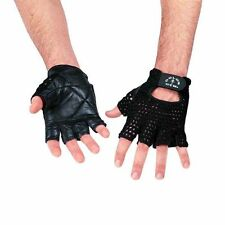 Golds Gym Mesh Back Leather Weight Lifting Body Building Power Training Gloves