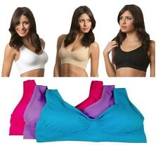 3 x Womens Seamless Padded Bra Yoga Sport Fitness Gym Shapewear All Sizes S-3XL