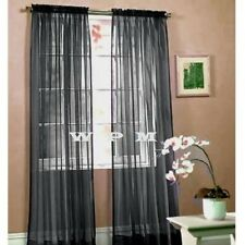 "1 Piece Sheer Voile Window Curtain Panel drape-more than 15 colors short 55""x63"""