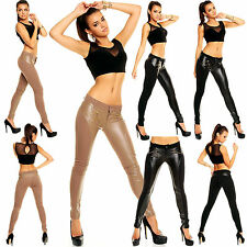 Sexy Women Clubbing Jeans Stretch Trouser Ladies Slim Pant Size 6 8 10 12 14 S M