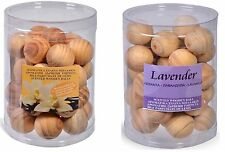SCENTED WOODEN BALLS IN 2 SCENTS 30 PCS PACΚ: Lavender, Vanilla