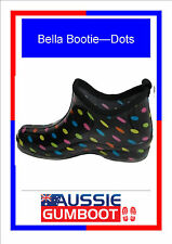 Funky Ladies Ankle Gumboots Dots Size 5 6 7 8 9 10 11 Wellies Gum Boots Womens