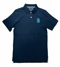 Dr. Who Doctor Logo BBC TV Licensed Embroidered Cotton Adult Polo Shirt