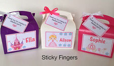 Personalised Childrens Princess Wedding Birthday Party Activity Box, Favour Bag